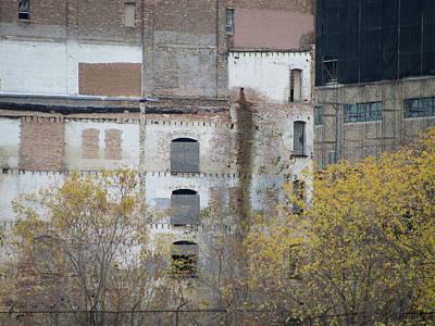 Photograph - Urban Decay Bricked Windows 2 by Anita Burgermeister