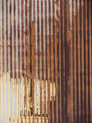 Photograph - Urban Decay Corrugated Rust 2 by Anita Burgermeister