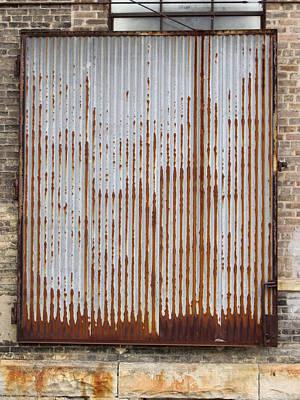 Photograph - Urban Decay Corrugated Rust 3 by Anita Burgermeister
