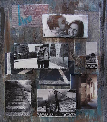Rail Road Mixed Media - Urban Decay Engagement Collage by Anita Burgermeister