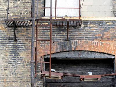 Photograph - Urban Decay Fire Escape by Anita Burgermeister