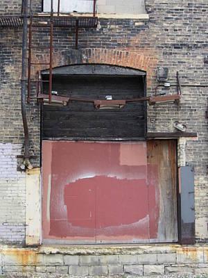 Photograph - Urban Decay Ladder by Anita Burgermeister