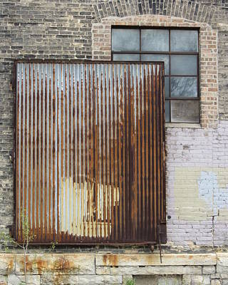 Photograph - Urban Decay Metal Panel by Anita Burgermeister