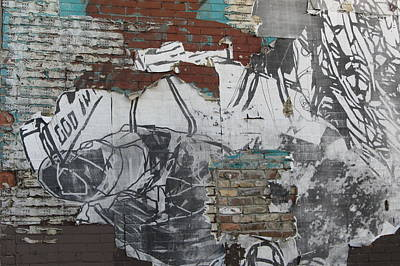 Photograph - Urban Decay Mural Wall 1 by Anita Burgermeister