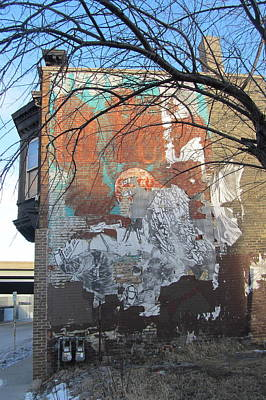 Photograph - Urban Decay Mural Wall 4 by Anita Burgermeister