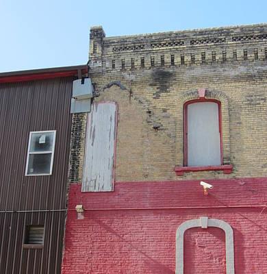 Photograph - Urban Decay Red Brick 2 by Anita Burgermeister