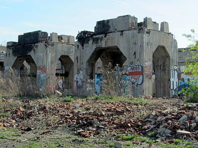 Photograph - Urban Decay Solvay Ruins 4 by Anita Burgermeister