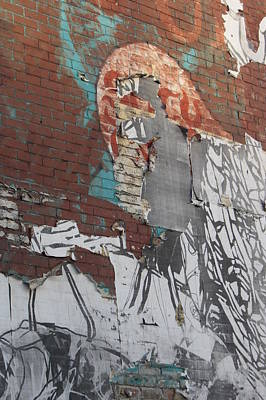 Photograph - Urban Decay Wall Mural 7 by Anita Burgermeister