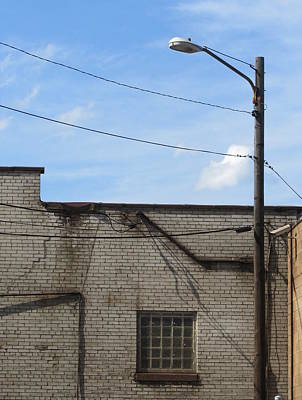 Photograph - Urban Decay White Brick 1 by Anita Burgermeister