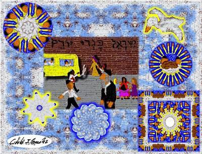 Urban Design- Brooklyn Yeshiva Boy Art Print by Cibeles Gonzalez