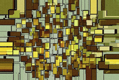 Digital Art - Urban Dwellings No 1 by Ben and Raisa Gertsberg