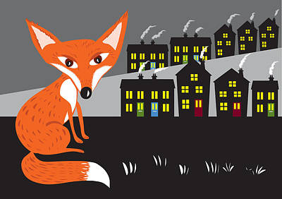 Painting - Urban Red Fox by Kate Shannon