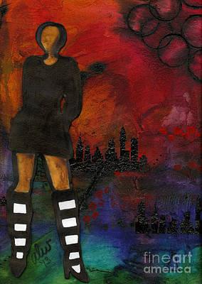 Mixed Media - Urban Girl Wanna Be by Angela L Walker