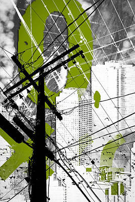Urban Grunge Green Art Print