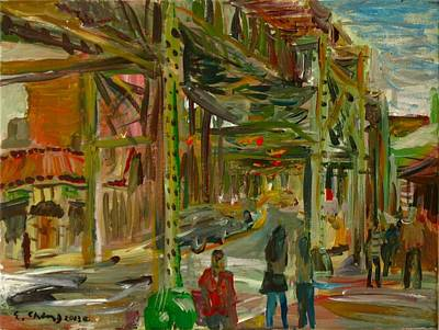 Painting - Urban Landscape 1 by Edward Ching