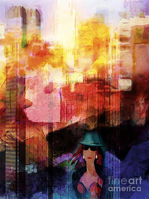 Color Image Mixed Media - Urban Life by Lutz Baar