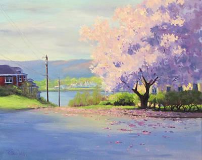Painting - Urban Magnolia by Karen Ilari