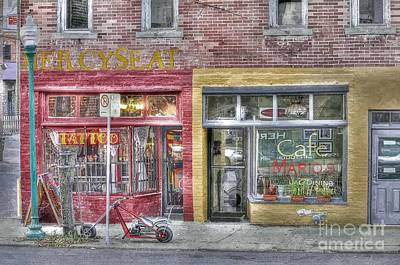 Photograph - Urban Mercyseat Oil Painting by Liane Wright