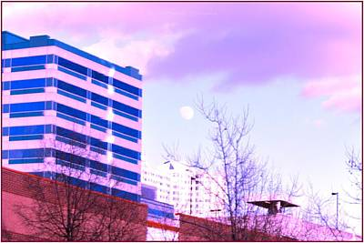 Moon Rise Poster Photograph - Urban Moon Rise by Sonali Gangane