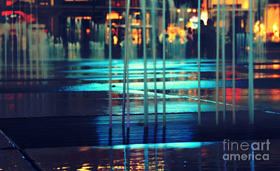 Photograph - Urban Night Life by Charline Xia