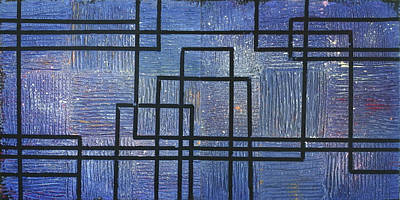 Painting - Urban Nocturne 1 And 2 by Ginny Schmidt