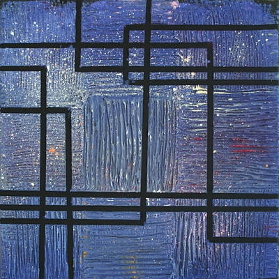 Painting - Urban Nocturne Part 2 by Ginny Schmidt