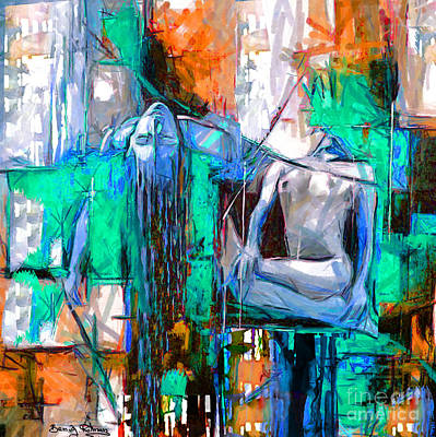 Painting - Urban Nude by Ben Rotman