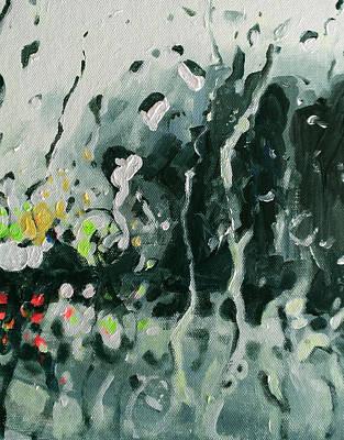 City Painting - Urban Rain 5 by Paul Mitchell
