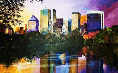 Painting - Urban Reflections by Al Brown