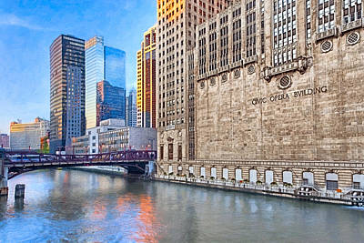 Photograph - Urban River Valleys - Chicago River by Mark E Tisdale