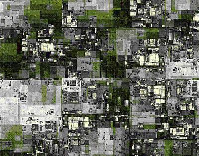 Digital Art - Urban Scene Going Green by Richard Ortolano