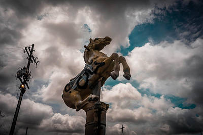 Photograph - Urban Sky Horse by Louis Maistros