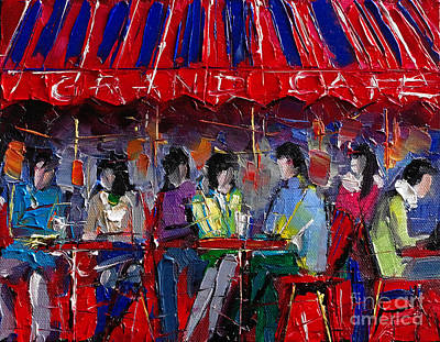 Promenade Painting - Urban Story - Grand Cafe by Mona Edulesco