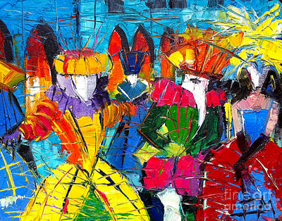 Exhibitions Painting - Urban Story - The Carnival 2 by Mona Edulesco