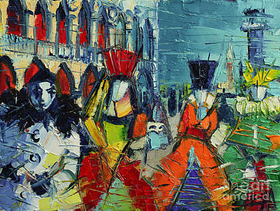 Exhibition Painting - Urban Story - The Carnival by Mona Edulesco