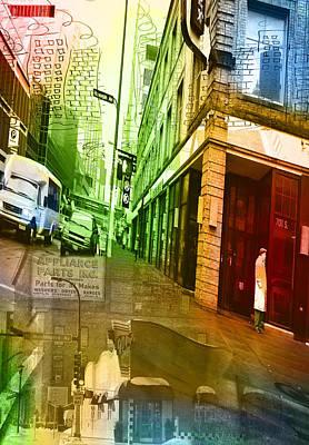 Digital Art - Urban Street Collage by Susan Stone