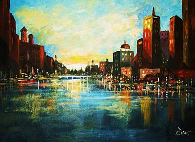 Urban Sunset Art Print by Al Brown