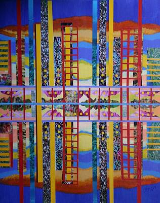City Sunset Mixed Media - Urban Sunset by Bob Craig