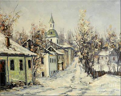Urban Winter Print by Petrica Sincu