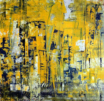 Painting - Urban Yellow by Katie Black
