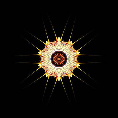 Spiny Digital Art - Urchin Fractal by Fran Riley