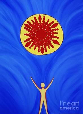 Sun Salutations Painting - Urdhva Hastasana by Janell R Colburn