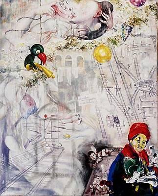 Painting - Urgent Call by Nekoda  Singer