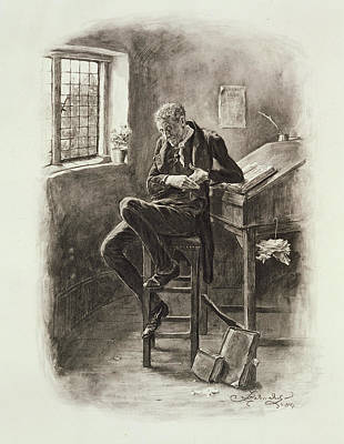 Plotting Drawing - Uriah Heep, From Charles Dickens A by Frederick Barnard