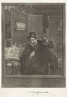 Pole Drawing - Urine Examiner, Doctor, Jan Stolker, Adriaen Van Ostade by Jan Stolker And Adriaen Van Ostade