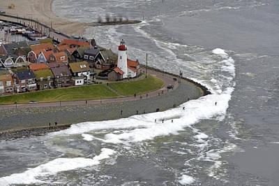 Flevoland Photograph - Urk Lighthouse, Flevoland by Bram van de Biezen