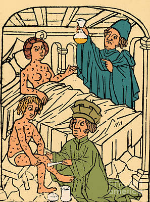 Photograph - Uroscopy Patients With Syphilis 1497 by Science Source
