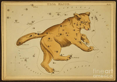 Photograph - Ursa Major Constellation 1825 by Science Source