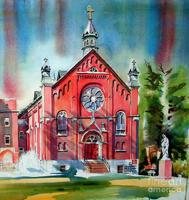 Dramatic Colors Painting - Ursuline Academy Sanctuary by Kip DeVore