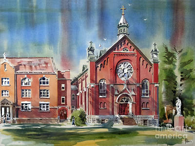 Ursuline Academy With Doves Art Print